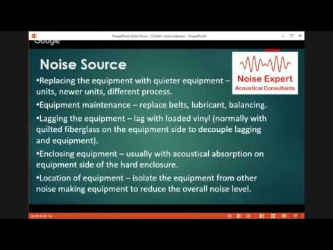 Worker Noise Exposure Webinar - Sound Noise Acoustics, engineering