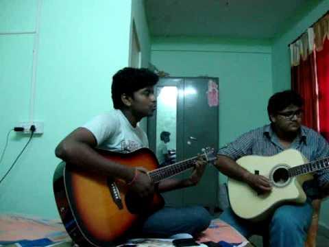 aicha -outlandish on guitar by ashish and parag....
