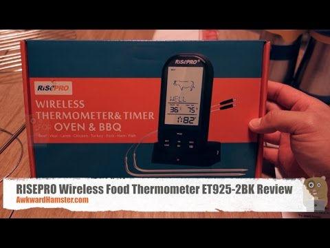 Risepro Wireless Food Thermometer Et925 2bk Review Youtube
