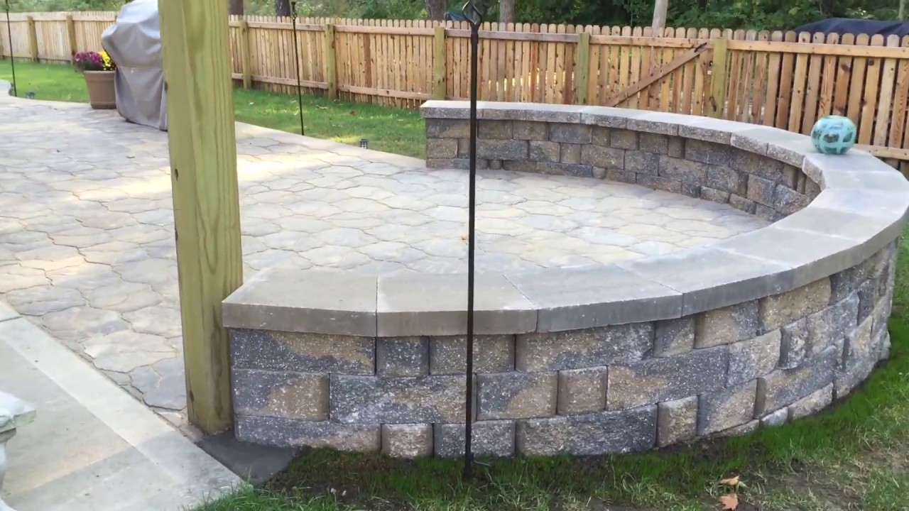 Back Yard Landscaping Ideas Patio With Sitting Wall