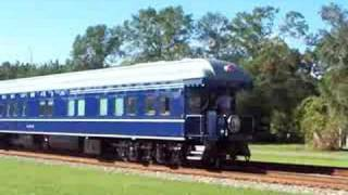 Georgia 300 Private Railcar on rear of Amtrak Silver Meteor