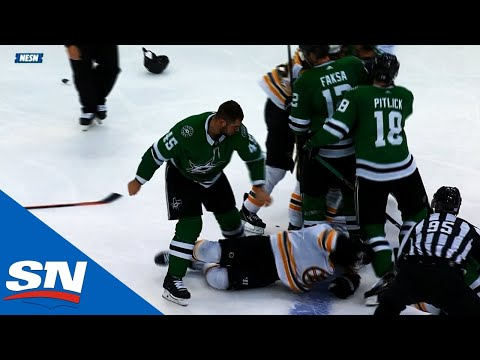 Roman Polak Goes After Torey Krug Plus Connor Clifton Dumps Jason Spezza As Tempers Flare In Dallas