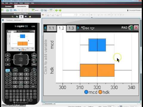 how to find standard deviation using ti-nspire