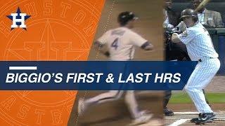 Biggio's first and last home runs in the Majors