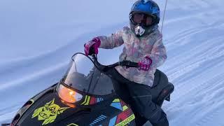 Дочь перевернулась на снегоходе. Закрываем сезон. Тайга РМ рысь - прошли 30 км, поход выходного дня.