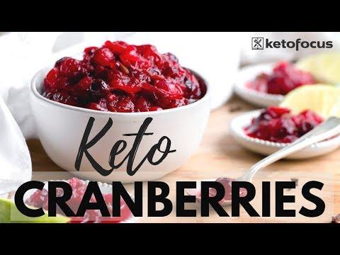 SUGAR FREE CRANBERRY SAUCE   KETO CRANBERRY SAUCE   Keto Thanksgiving Sides