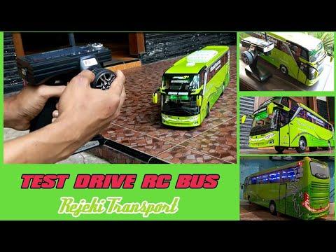 TEST DRIVE - RC BUS MINIATUR - REMOT CONTROL BUS Jetbus 3 SHD Adiputro - HANDMADE RC BUS MODELS