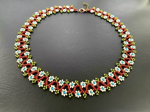 Daisy Chain Necklace    Easy Tutorial    DIY Seed Beads Necklace