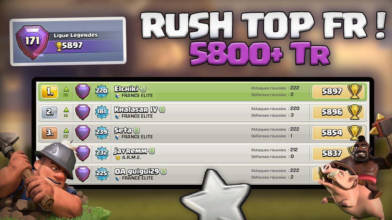 RUSH TOP 1 FR ! TOP 171 MONDE ! Clash of clans Fr