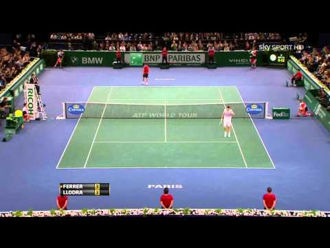Atp paris 2012 - Ferrer vs Llodra SF (HD)