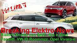 Breaking Elektro-News: MG Elektro-Kombi, VW ID.Roommzz, Opel Vivaro-e, Kia e-Soul Facelift, etc.