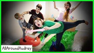 Boys vs Girls Poison River Game Slime Making Challenge / AllAroundAudrey