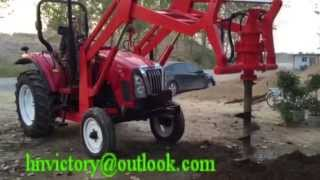Spiral Auger drilling machine/Hydraulic Post Hole Digger mounted on tractor