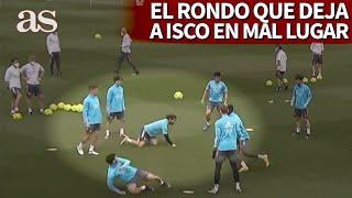 El rondo de ISCO en el entrenamiento del MADRID que no le deja en buen lugar | Diario AS