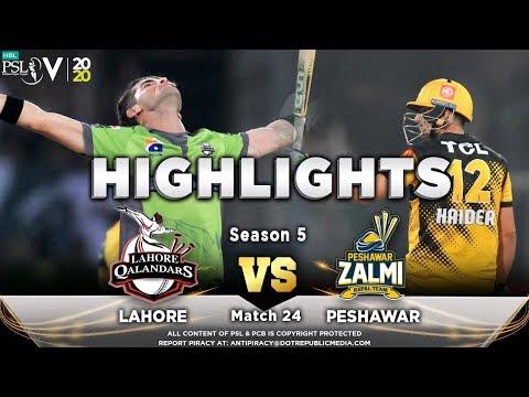 Lahore Qalandars vs Peshawar Zalmi   Full Match Highlights   Match 24   10 March   HBL PSL 2020