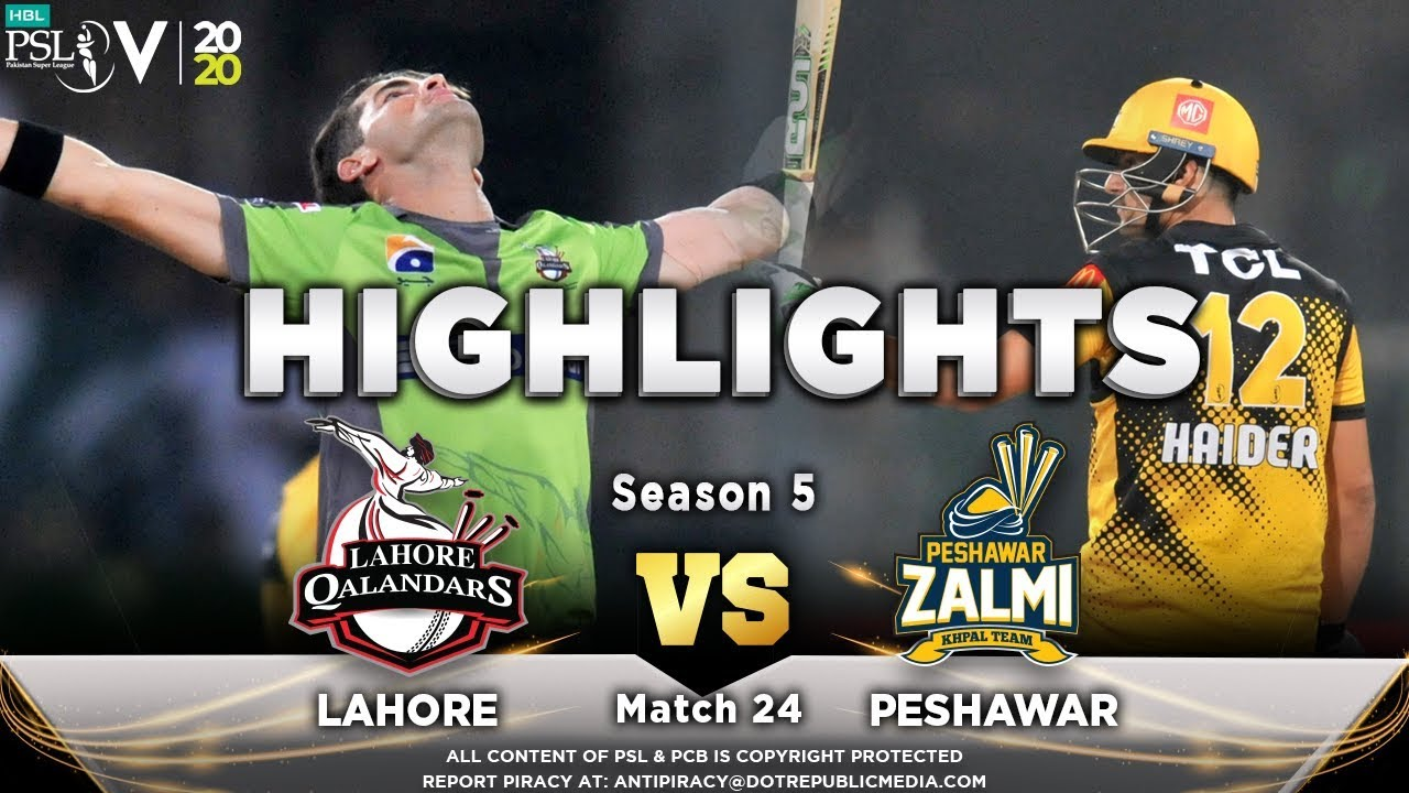 Lahore Qalandars vs Peshawar Zalmi | Full Match Highlights | Match 24 | 10 March | HBL PSL 2020