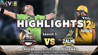 Lahore Qalandars vs Peshawar Zalmi | Full Match Highlights | Match 24 | 10 March | HBL PSL 2020