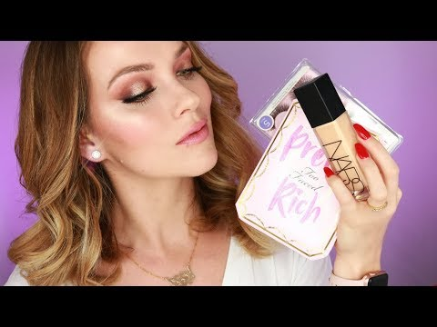 MAKEUP TUTORIAL PRETTY RICH PALETTE TOO FACED REVIEW   HOW TO APPLY FOUNDATION NARS   Rita Almusa