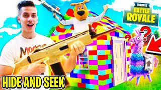 FORTNITE NERF HIDE & SEEK in LEGO BOX FORT! 📦