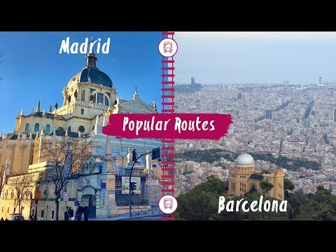 Eurail - Train route from Madrid to Barcelona