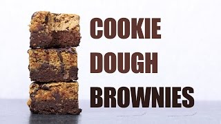 Cookie Dough Brownies Vegan, Gluten-free & Refined Sugar-free