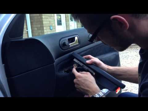 VW Golf MK4 replace/remove electric window switch in 60 seconds