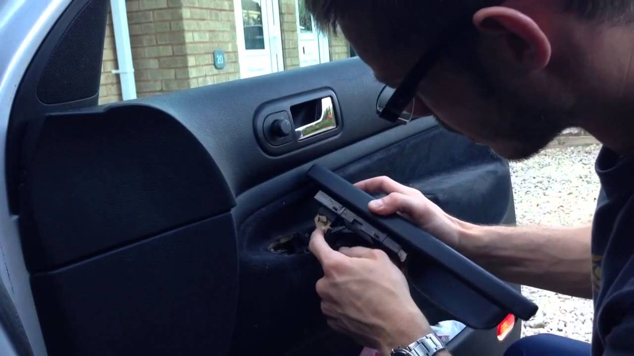 how to stop electric car window squeaking