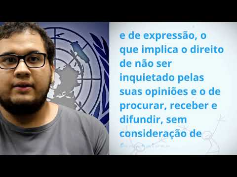 Gabriel Moura, Brazil, reading article 19 of the Universal Declaration of Human Rights