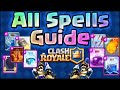 Clash Royale - All Spells Guide and Tips! Lightning, Rocket, Mirror, Freeze, Rage, Poison, Zap Spell