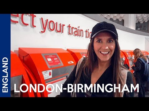 London-Birmingham: First Time Riding A Train In The UK
