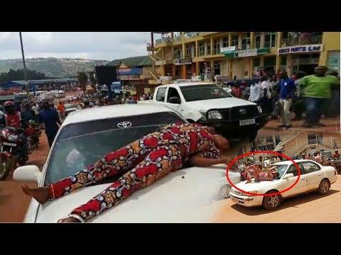 VIDEO: Agashya umukobwa wasinze abuza imodoka gutambuka muri Nyabugogo