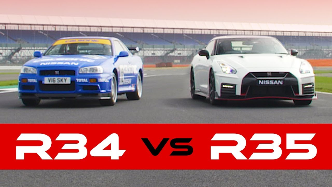 R34 Skyline GT-R Vs 2018 Nismo: Old New Drag Race  H