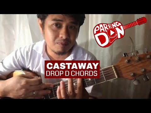 CASTAWAY chords (Franco) plus Drop D chord Guitar Tutorial - YouTube