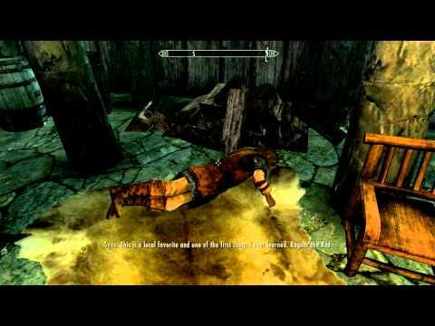Sven fails at singing Ragnar the Red (skyrim)