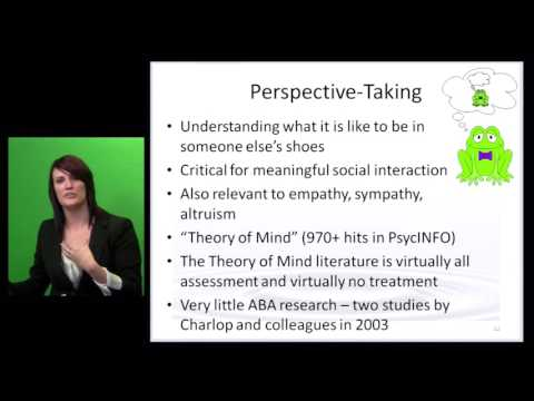 Teaching Perspective Taking and Executive Function Skills to Children with Autism