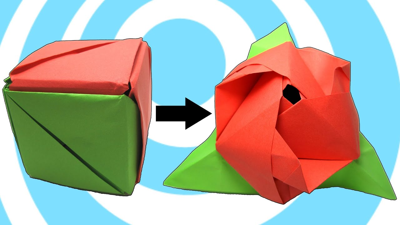 Modular Origami Magic Rose Cube Instructions Youtube Diagrams