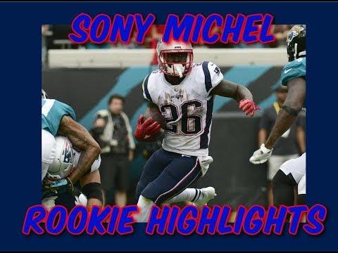 Sony Michel Rookie Highlights   Week 1-8   2018