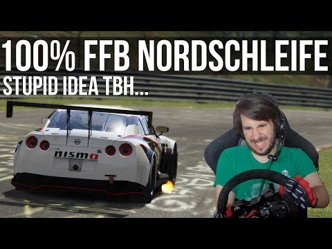 Trying To Survive The Nordschleife with 100% Force Feedback