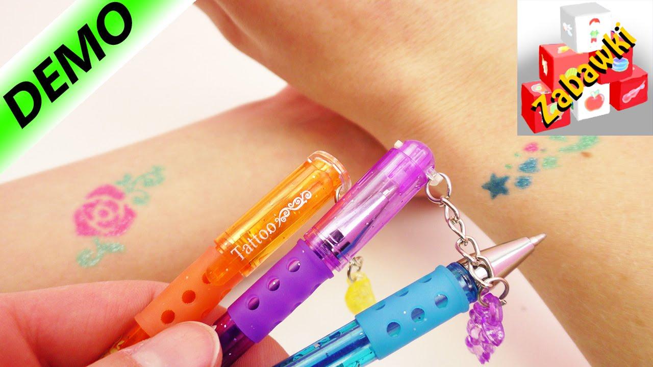 Długopisy Do Robienia Tatuaży Test Na żywo Dwa Wzory