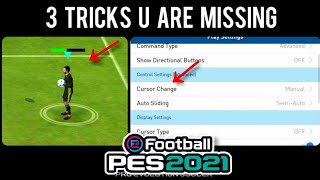 3 TRICKS You are missing in PES 2018 Mobile