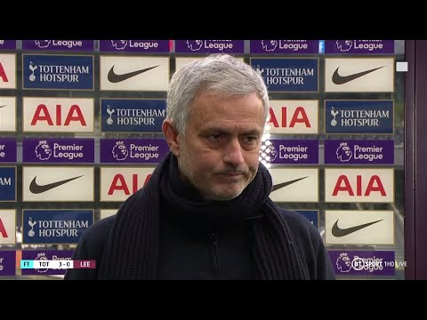 """""""Son and Kane are doing special things"""" Mourinho reacts to Spurs 3-0 Leeds"""