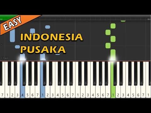 Lagu Wajib Nasional - Indonesia Pusaka (Piano Tutorial ~ Easy & Simple)
