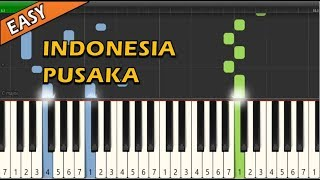 Lagu Wajib Nasional - Indonesia Pusaka (Piano Tutorial ~ Easy & Simple)