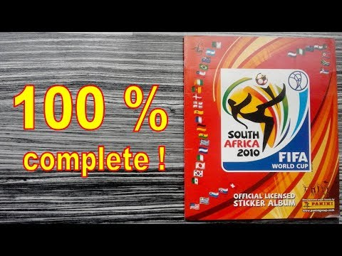 "Panini Album ""FIFA World Cup South Africa 2010"" - 100 % COMPLETE / FULL"