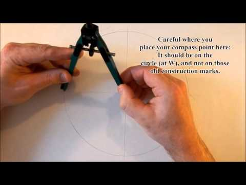 How to draw a pentagon with a compass TWO MINUTES