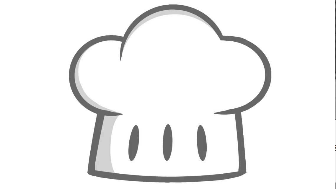 wie zeichnet man eine kochm u00fctze youtube Cute Chef Clip Art Black Chef Silhouette