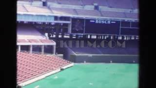 1970: Busch Memorial Stadium replaced with astroturf under construction. ST. LOUIS, MISSOURI
