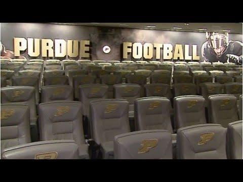 Purdue QB David Blough gives tour of football facility