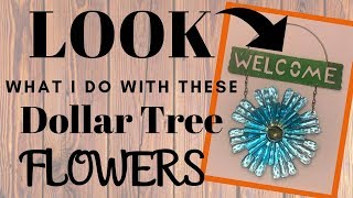 LOOK what I do with these DOLLAR TREE FLOWERS | AWESOME DIY