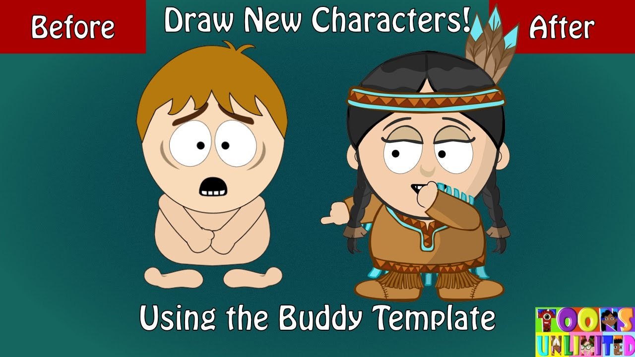 How To Create South Park Style Buddy Character Part 1